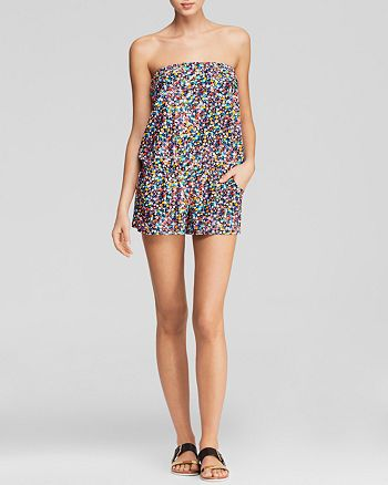 Shoshanna - Electric Garden Swim Cover-Up Romper