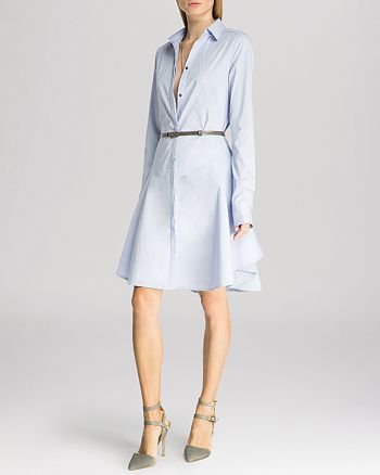 HALSTON HERITAGE - Dress - Structured Belted Shirt
