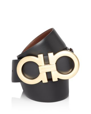 Reversible Double Gancini Belt by Salvatore Ferragamo