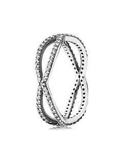 PANDORA Sterling Silver & Cubic Zirconia Crossing Paths Ring - Bloomingdale's_0