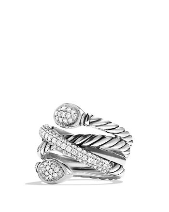 David Yurman - Renaissance Crossover Ring with Diamonds