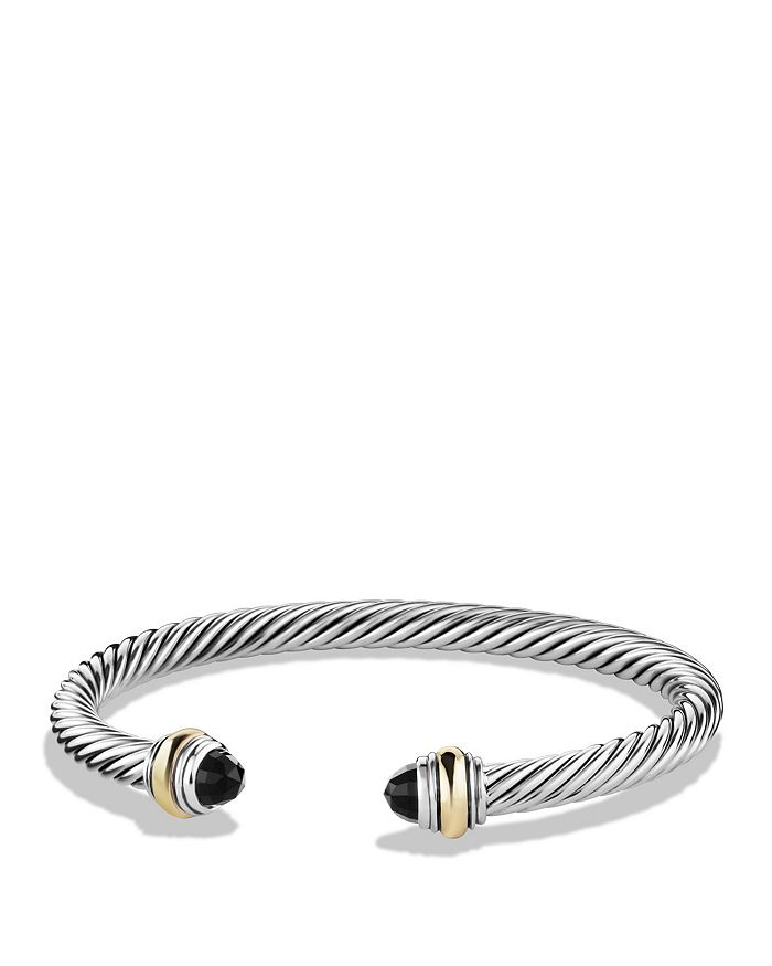 David Yurman - Cable Classics Bracelet with Black Onyx and Gold