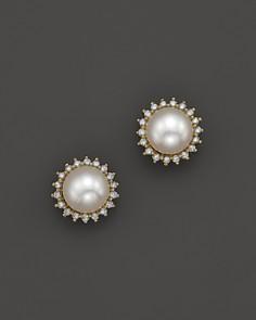 Pearl Earrings Bloomingdale S Tahitian Diamond 14k Gold Cultured Jackets Studs