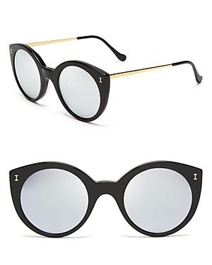 Illesteva Mirrored Palm Beach Sunglasses, 49mm