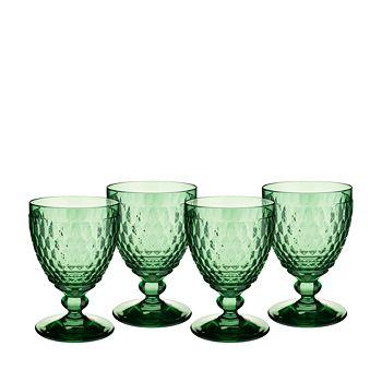 Villeroy & Boch - Boston Claret Glass, Green, Set of 4