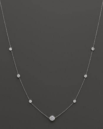 Bloomingdale's - Diamond Station Necklace in 18K White Gold, 1.50 ct. t.w. - 100% Exclusive