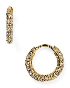 Nadri Pavé Huggie Hoop Earrings