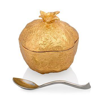Michael Aram - Pomegranate Mini Pot with Spoon