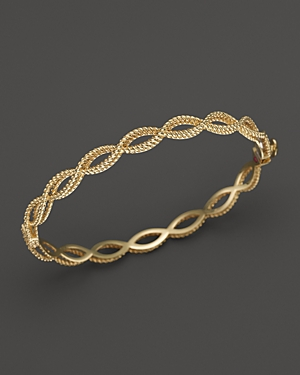 Roberto Coin 18K Yellow Gold Single Row Twisted Bangle