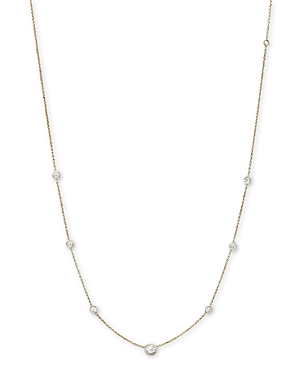 Diamond Station Necklace in 18K Yellow Gold, 1.0 ct. t.w.
