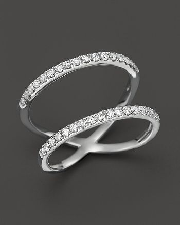 Bloomingdale's - Diamond Double Row Ring in 14K White Gold, .35 ct. t.w. - 100% Exclusive