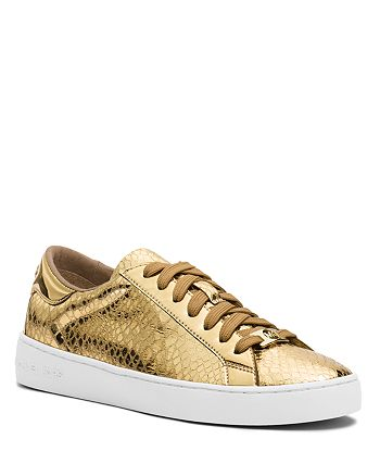 MICHAEL Michael Kors - Lace Up Sneakers - Keaton Metallic Snake