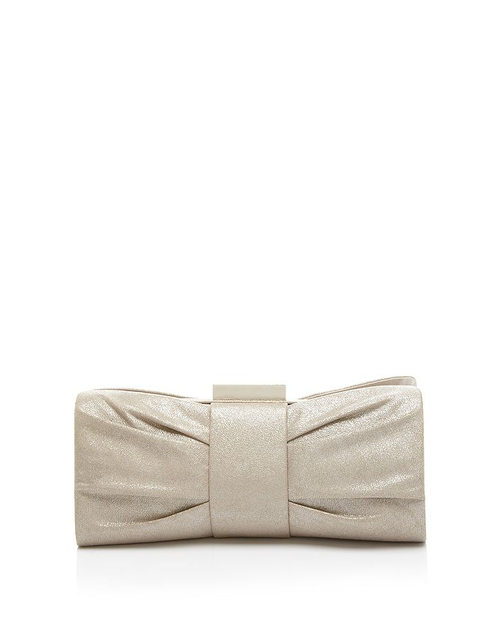Sondra Roberts - Metallic Pleated Bow Clutch