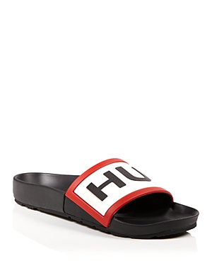 Hunter Logo Pool Slide Sandals