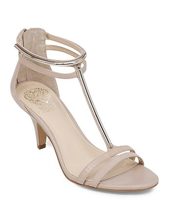 VINCE CAMUTO - Open Toe T Strap Sandals - Mitzy High-Heel