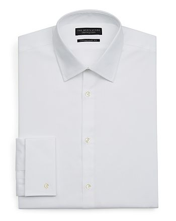 The Men's Store at Bloomingdale's - White Textured Dress Shirt - Regular Fit- 100% Exclusive