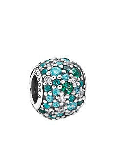 PANDORA Charm - Sterling Silver, Cubic Zirconia & Crystal Ocean Mosaic Pavé, Moments Collection - Bloomingdale's_0