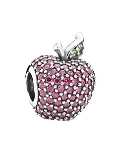 PANDORA Moments Collection Sterling Silver, Cubic Zirconia & Crystal Red Apple Pavé Charm - Bloomingdale's_0