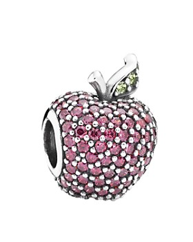 Pandora -  Sterling Silver, Cubic Zirconia & Crystal Red Apple Pavé Charm