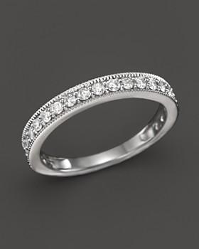 Bloomingdale's - Diamond Milgrain Band Ring n 14K White Gold, .50 ct. t.w.- 100% Exclusive