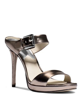 MICHAEL Michael Kors - Mule Sandals - Beverly Buckled Metallic