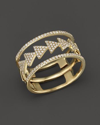 Bloomingdale's - Diamond Triple Stack Ring in 14K Yellow Gold, .35 ct. t.w.- 100% Exclusive