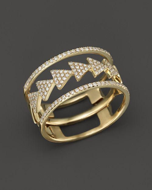 Bloomingdale's - Diamond Triple Stack Ring in 14K Yellow Gold, .35 ct. t.w. - 100% Exclusive