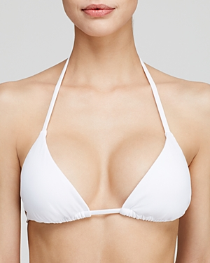 Becca by Rebecca Virtue Color Code Triangle String Bikini Top