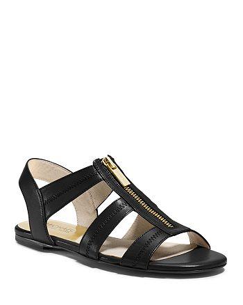 MICHAEL Michael Kors - Flat Sandals - Berkley Zipper