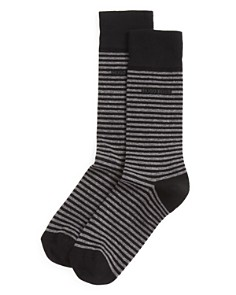BOSS Hugo Boss Combed Cotton Stripe Socks - Bloomingdale's_0