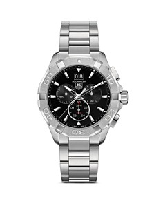TAG Heuer - TAG Heuer Aquaracer Quartz Chronograph Watch with Black Dial, 43mm