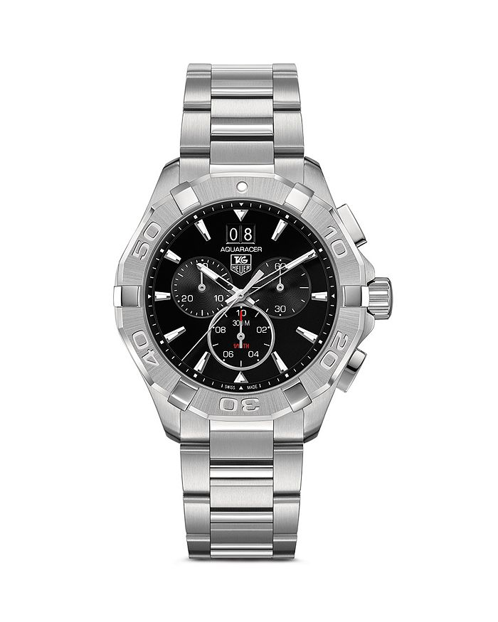 TAG Heuer - Aquaracer Quartz Chronograph Watch with Black Dial, 43mm