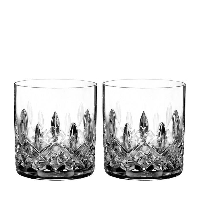 Waterford - Lismore Connoisseur Whiskey Straight Sided Tumbler Glass, Set of 2