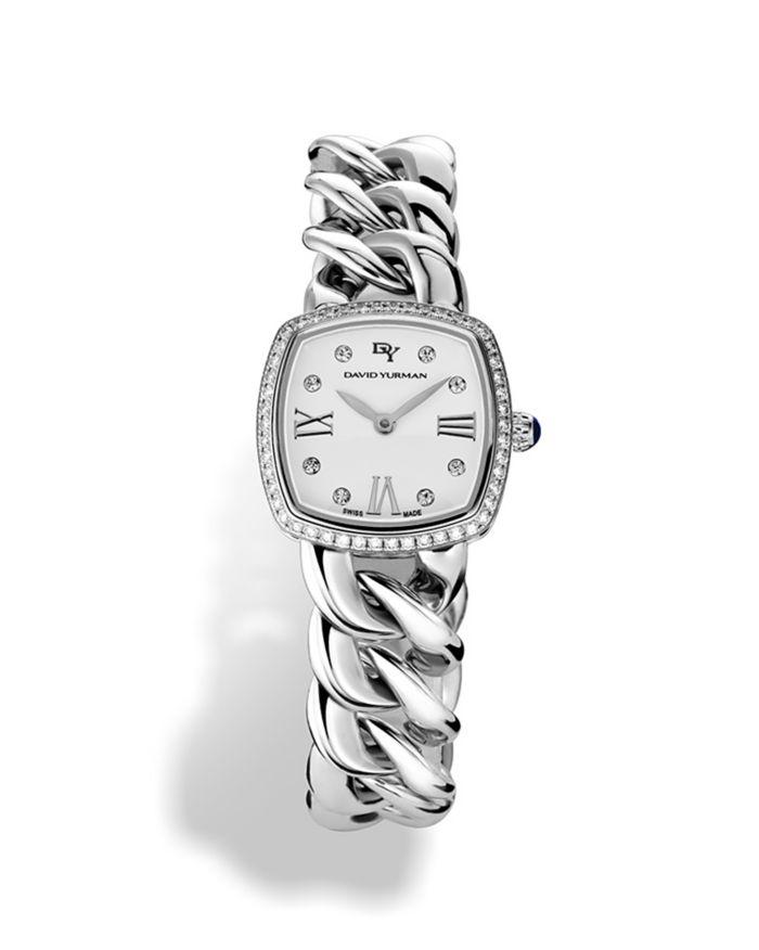 David Yurman Albion Stainless Steel Watch with Diamonds, 27mm  | Bloomingdale's
