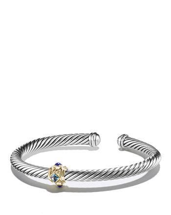 David Yurman - Renaissance Bracelet with Blue Topaz, Lapis Lazuli and 14K Gold