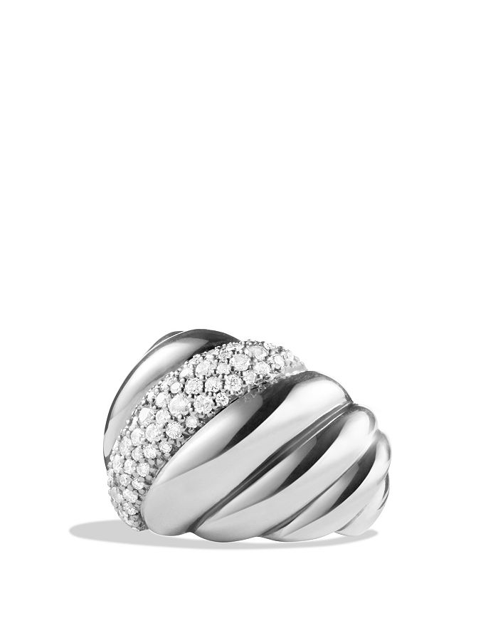 David Yurman - Hampton Cable Ring with Diamonds