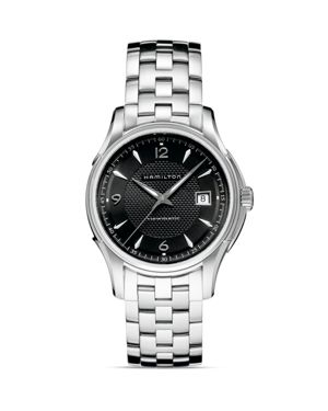 HAMILTON Jazzmaster Viewmatic Auto Stainless Steel Bracelet Watch in Silver/ Black/ Silver