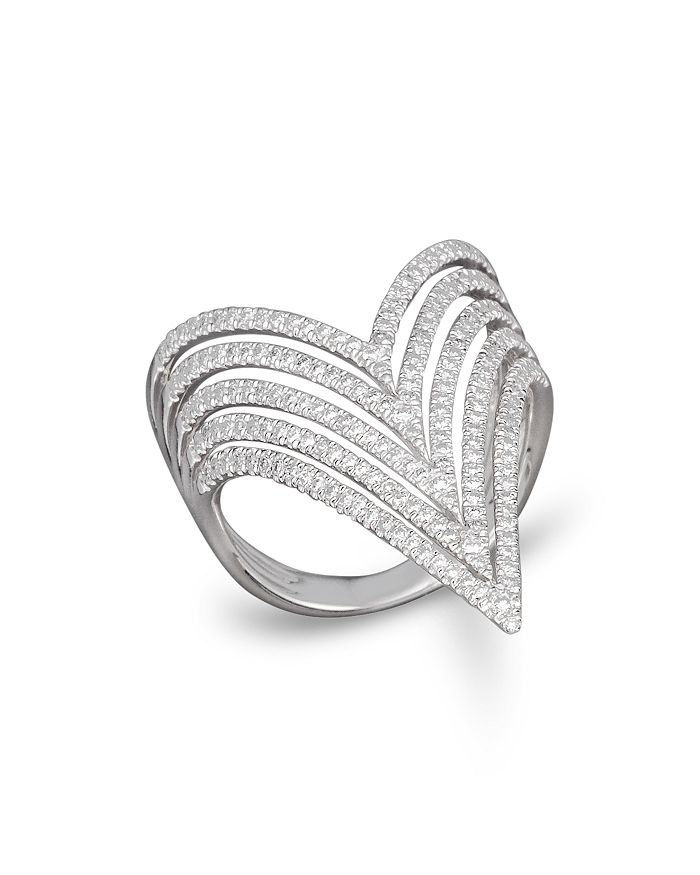 Bloomingdale's - Diamond Multirow Statement Ring in 14K White Gold, .70 ct. t.w. - 100% Exclusive