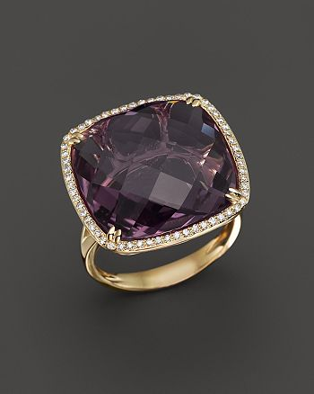 Bloomingdale's - Amethyst and Diamond Statement Ring in 14K Yellow Gold- 100% Exclusive