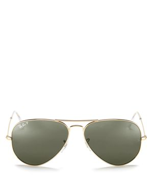 Ray-Ban Polarized Classic Aviator Sunglasses, 58mm