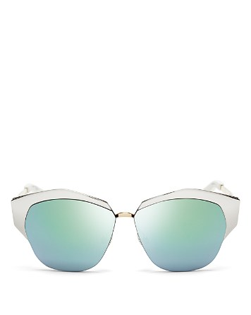 $Dior Women's Mirrored Round Sunglasses, 55mm - Bloomingdale's
