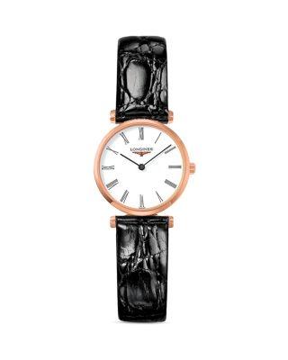 Leather Strap Watch, 24Mm in Brown/ White/ Rose Gold