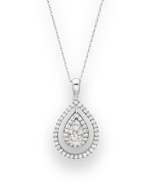 Bloomingdale's - Diamond Pendant Necklace in 14K White Gold, .35 ct. t.w. - 100% Exclusive