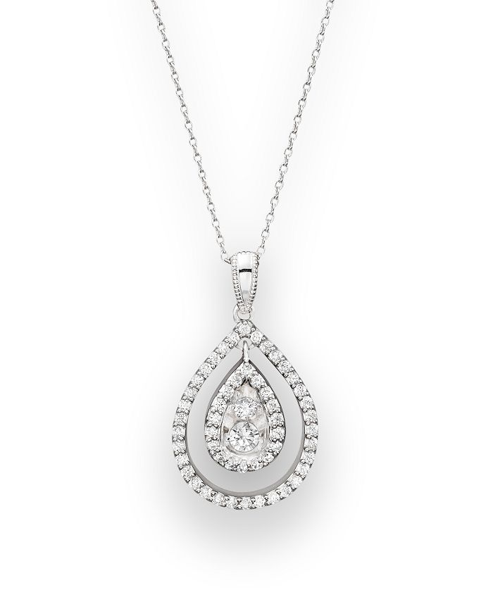 Bloomingdale's - Diamond Pendant Necklace in 14K White Gold, .35 ct. t.w.- 100% Exclusive