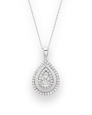 Diamond Pendant Necklace in 14K White Gold, .35 ct. t.w. - 100% Exclusive