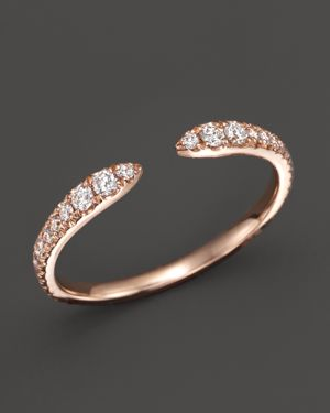 Diamond Open Ring in 14K Rose Gold, .35 ct. t.w. - 100% Exclusive