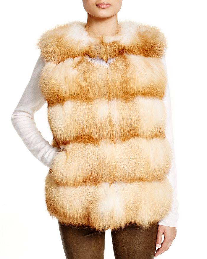 Maximilian Furs - Grooved Nafa Fox Vest - Bloomingdale's Exclusive