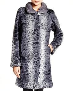 Maximilian Furs - Lamb Coat with Mink Collar