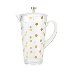 kate spade new york Raise A Glass Acrylic Pitcher, Gold Dots - Bloomingdale's_0