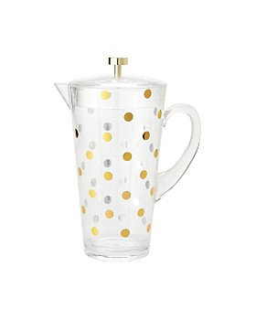 kate spade new york - Raise A Glass Acrylic Pitcher, Gold Dots